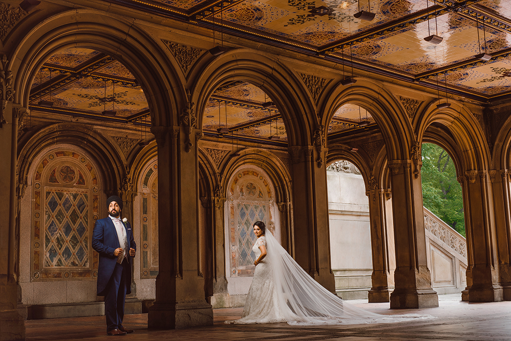 0.3.2A Sikh Wedding Day Shoot Couple Shoot New York Bethesda Terrace Central Park - .jpg