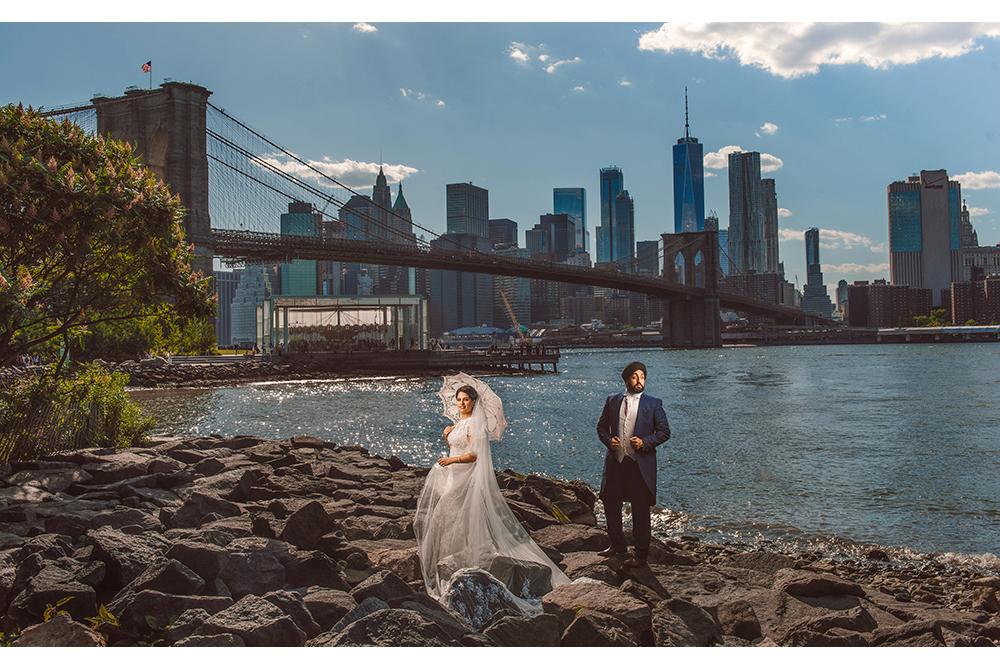 0.3.2A 0.3.2A Sikh Wedding Day Shoot Couple Shoot New York Dumbo Brooklyn Bridge .jpg