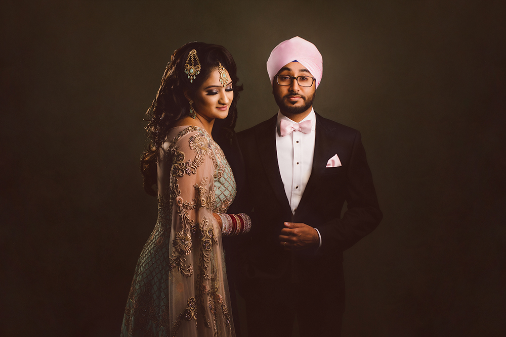 1.0.1.1.1 Sikh Wedding Day Shoot Portrait Couple - Park Inn Heathrow East London Gravesend.jpg