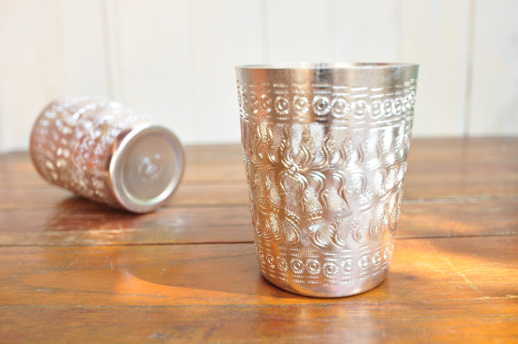 Gorgeous pressed aluminium cups from Thaihomeware