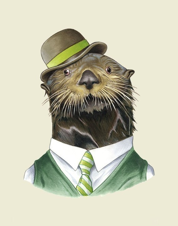 Berkley Illustration Sea Otter Print