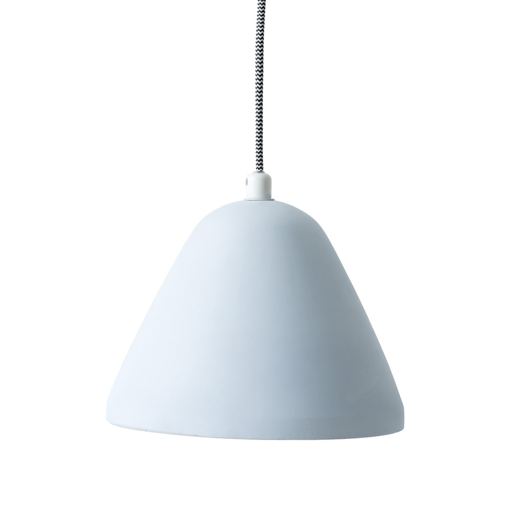 The Finn Concrete Pendant in Ice, Milk and Sugar