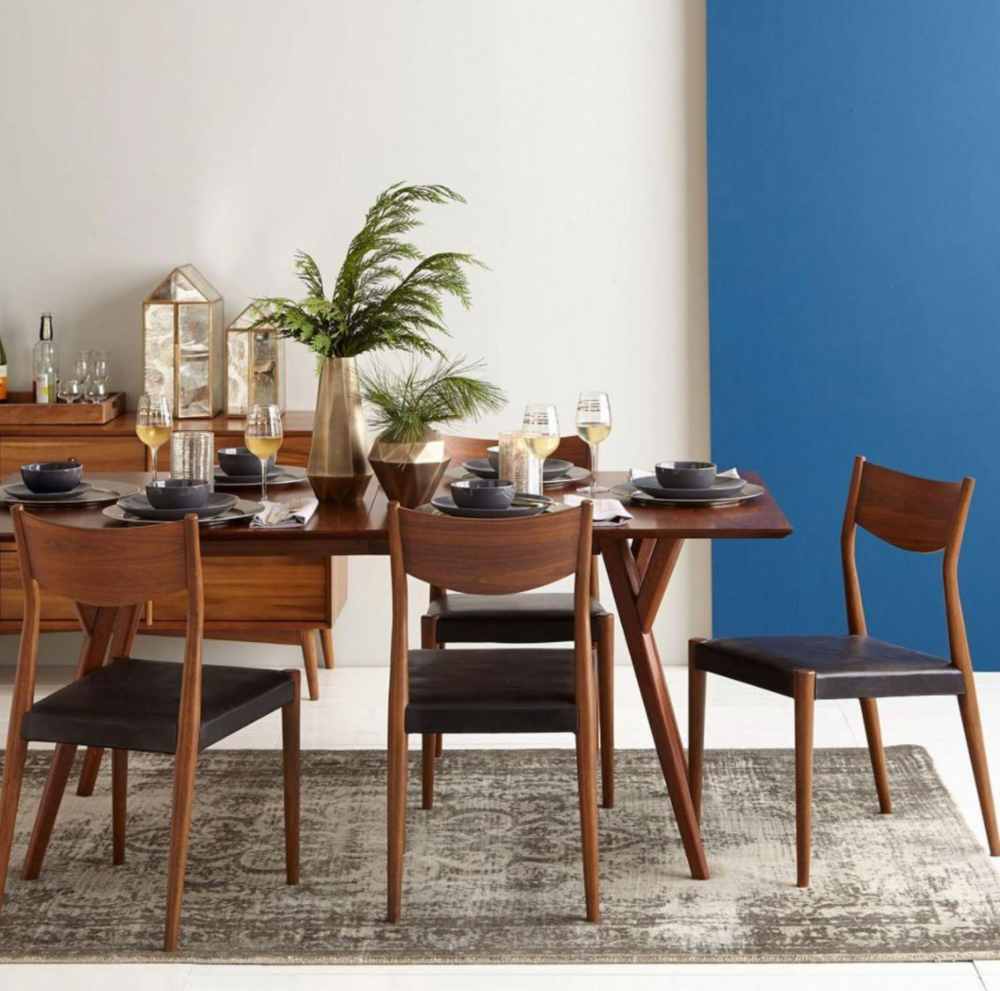 Mid-century dining table from West Elm