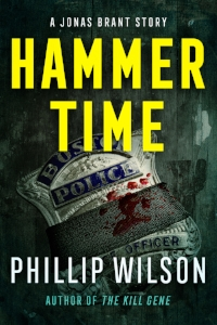 Hammer Time cover by Jeroen ten Berge. Notice the blood on the badge? There's a nod to that image in one of the final chapters.