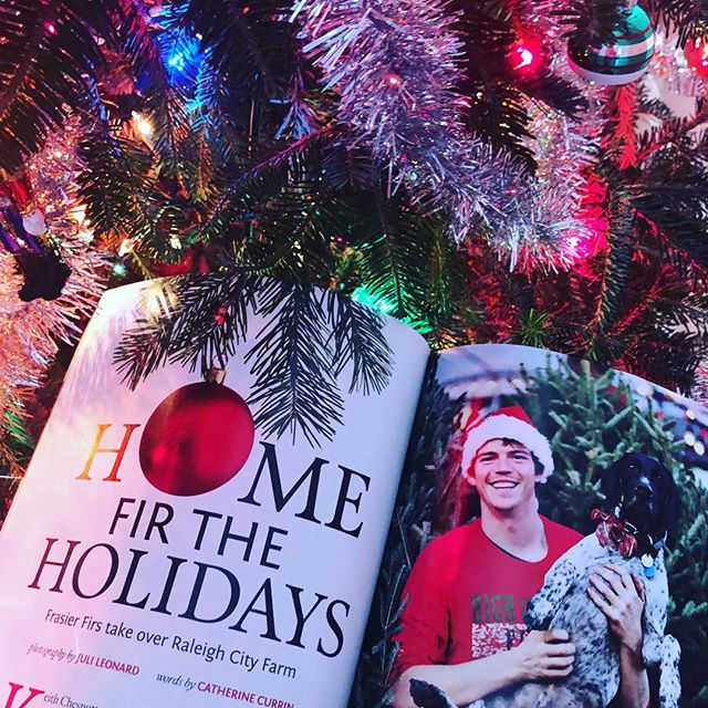 Great feature in this month's @waltermagazine about our friends @highcountryfirs.  Keith and Lacy (and family), thanks for bringing High Country Christmas cheer to Mordecai!