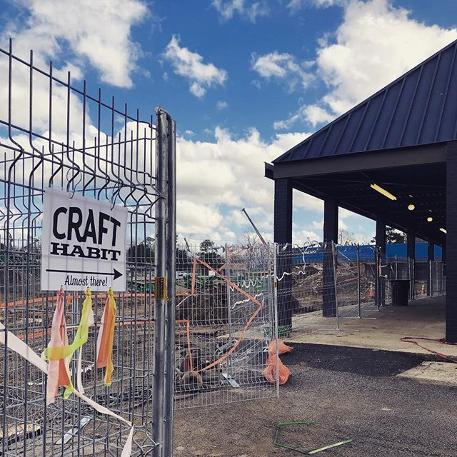 Even with the #bigdig happening, @craft_habit_raleigh is open for business. #followthesigns