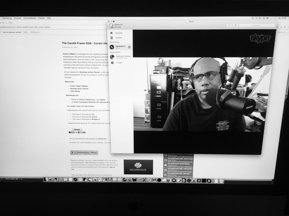 "on Skype with Ibarionex Perello, host of ""the candid frame"""