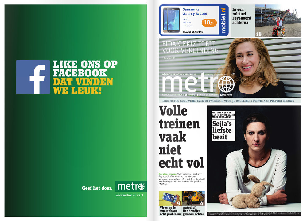 ImPortraits on the cover of Metro News Netherland