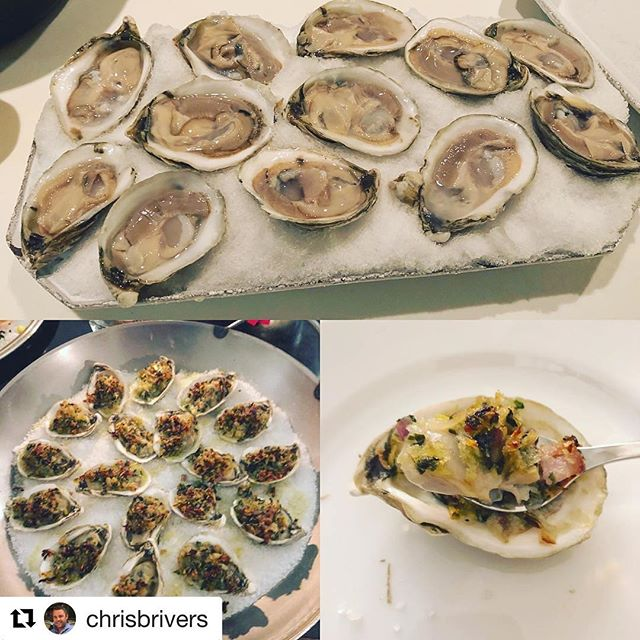 #Repost @chrisbrivers 👌 ————————— Nothing beats @tangieroysterco oysters atop fresh #sagharbor snow or a riff on the Rockefeller to ring in 2018 with the best of friends and family.