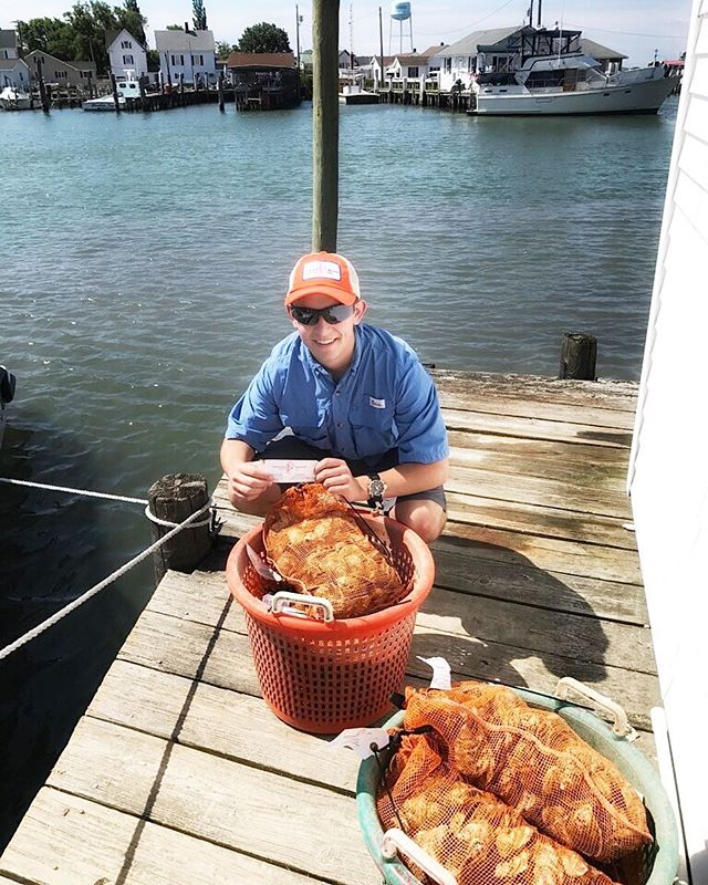 Tangier makes a great day trip on the Chesapeake Bay. Pictured here is Pinson Neal with 500 souvenirs. • • • #tangier #oysters #chesapeakebay #VAoysters #fruitsdemer #oysterlover #tastethesea #seafood #foodlover #rawbar #VirginiaIsForOysterLovers #eastcoastoysters #virginiaoystertrail #onthetable #foodandwine #eater #goodeats #eatwelllivewell