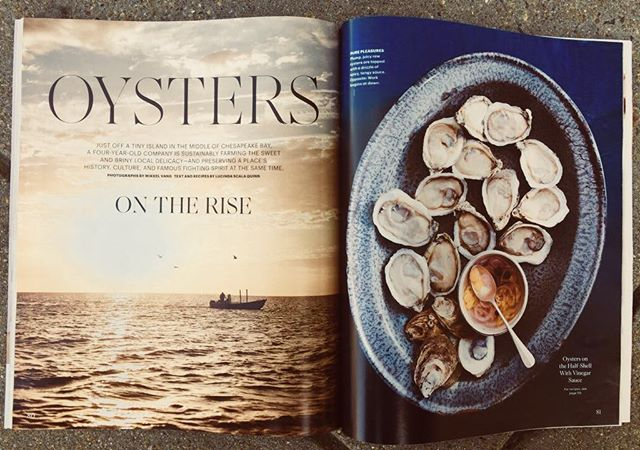 On stands TODAY! The TIOC story in Martha Stewart Living. Hats off to our watermen and the extraordinary folks on Tangier for making this story happen.