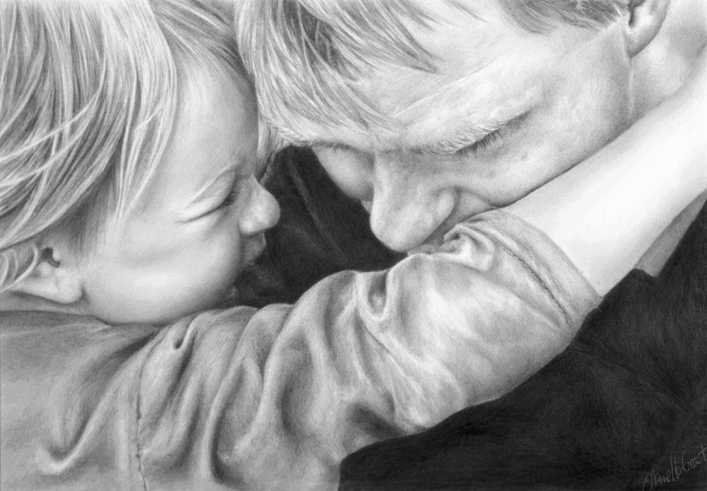 Quality Time, graphite on paper SOLD