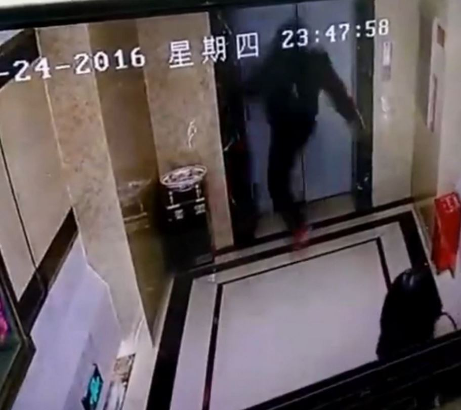 Never kick, push or mess with elevator doors! You may die doing so.