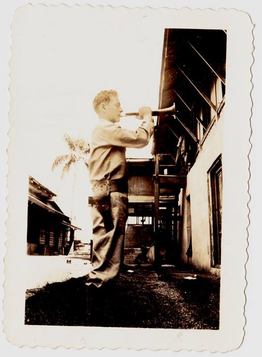 This is a picture of my great uncle, Loren Jerome Gregory, aged 16 years, in Manila in October 1941. Six months later he would be walking in the Bataan Death March in April 1942, turning 17 years old that May, dying in a Japanese camp in August 1942.