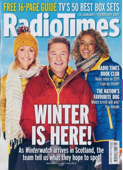 Michaela Strachan featured on the Radio Times front cover this week