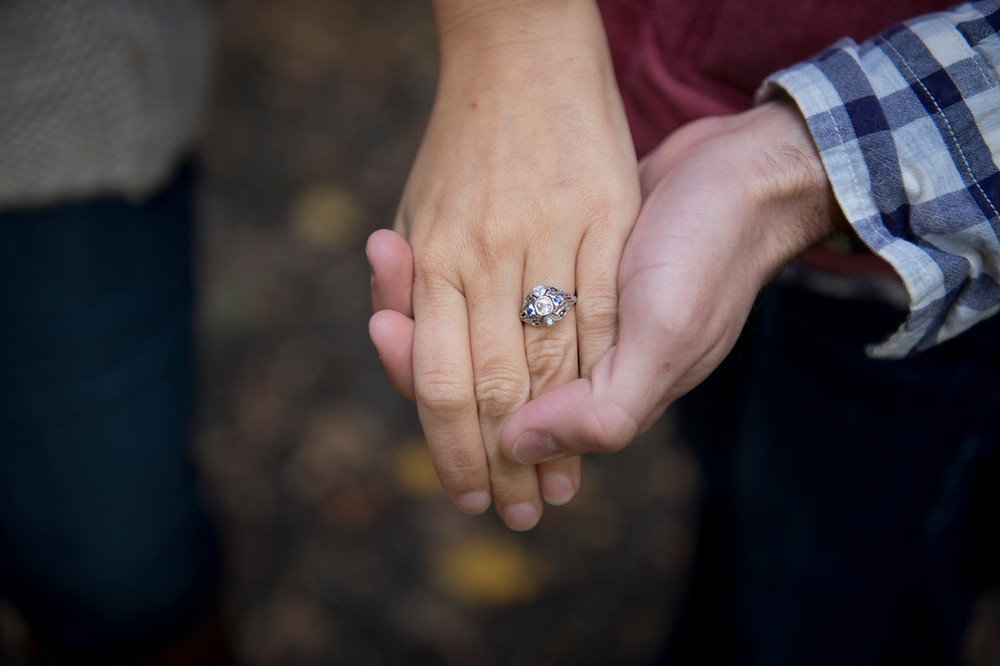 I really really love My gorgeous vintage engagement ring! Photo by Natalie Hofert. Ring from Hofert Jewelers.
