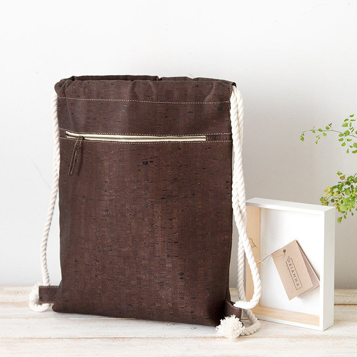 Xianna Cork Drawstring Backpack
