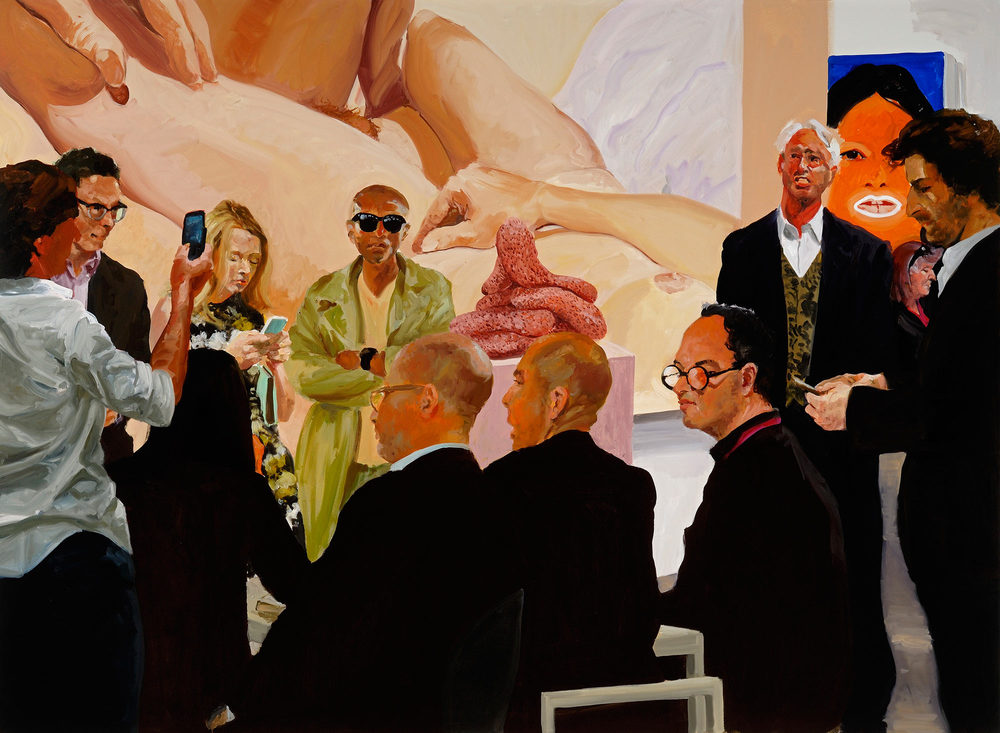 Art Fair: Booth #4 The Price, 2013. Oil on Linen 82 x 112 Inches (208 x 284 cm.)
