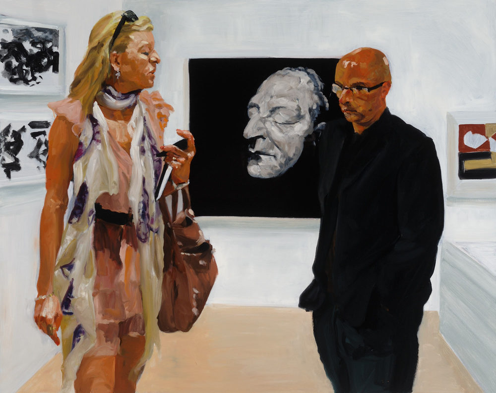 Art Fair: Booth #3 Deathmask, 2014. Oil on Linen 68 X 82 in. (173 x 208 cm.)