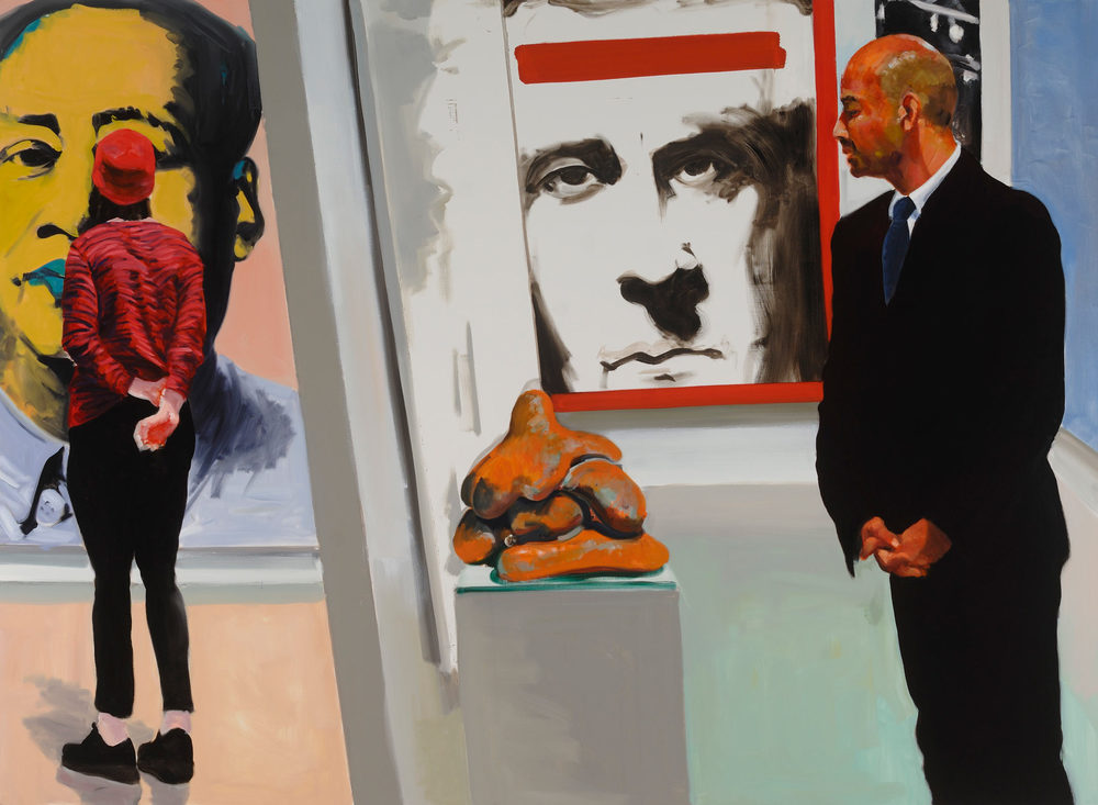 Art Fair: Booth #16 Sexual Politics, 2014. Oil on Linen. 82 x 112 in. (208 x 284 cm.)