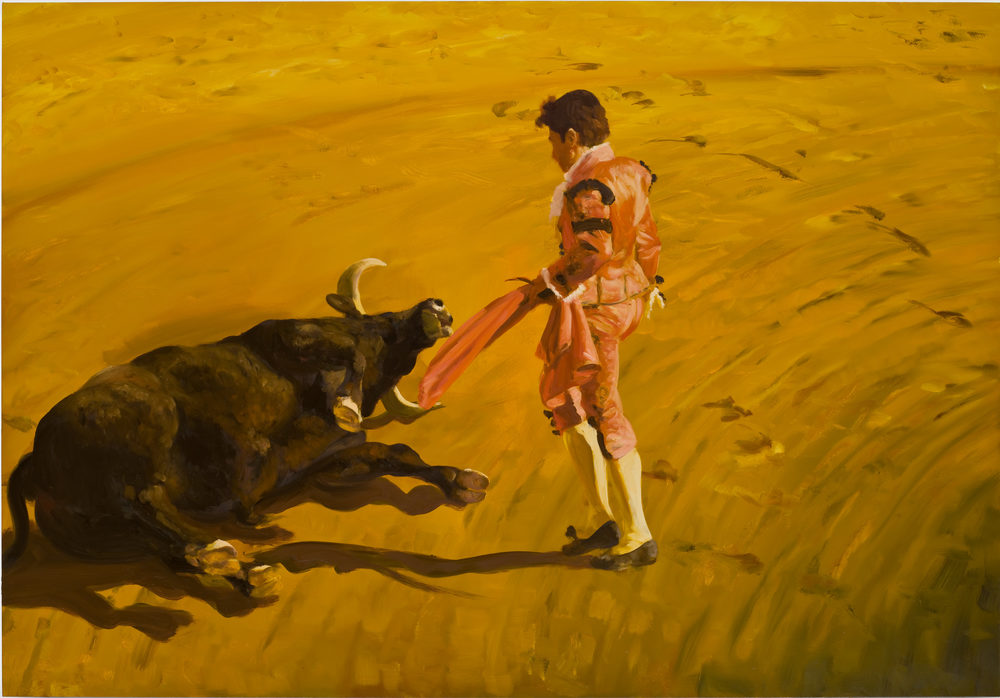 Corrida in Ronda #2, 2008. Oil on Linen. 84 x 120 in. (213 x 305 cm.)