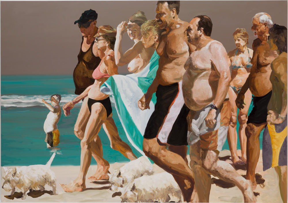 Scenes From Late Paradise: The Parade, 2006. Oil on linen. 76 x 108 in. (193 x 274 cm.)