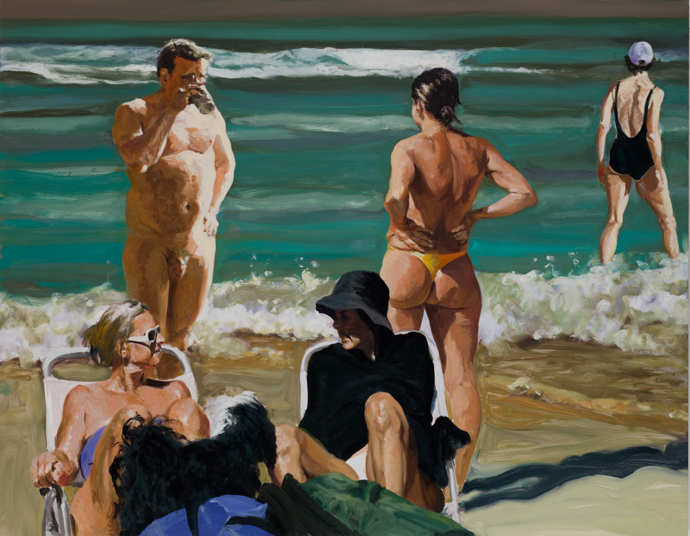 Scenes From Late Paradise: The Drink, 2006. Oil on linen. 75 x 96 in. (191 x 244 cm.)