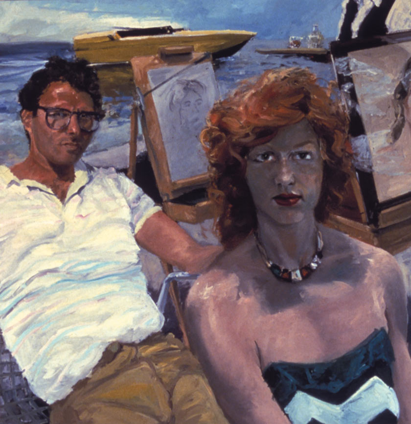 Self Portrait with April Gornik at the Beach, 1983.