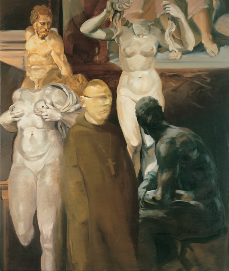 Cyclops Among the Eternally Dead, 1996. Oil on linen. 65 x 55 in. (165 x 140 cm.)