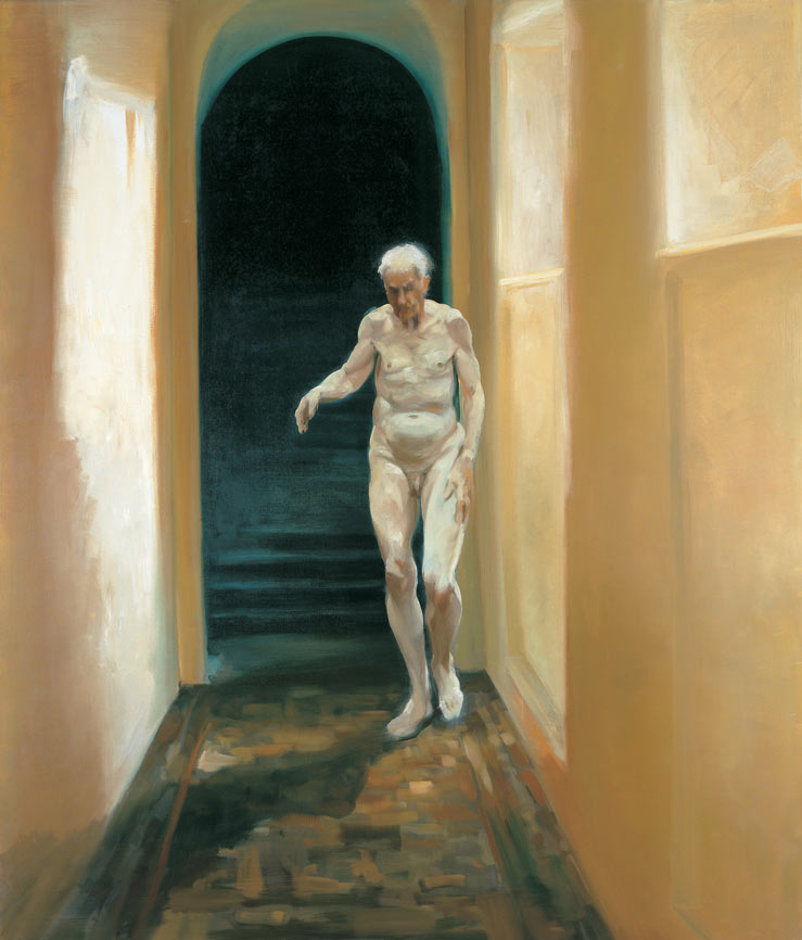 Frailty is a Moment of Self-Reflection, 1996. Oil on linen. 68 x 58 in. (173 x 147 cm.)