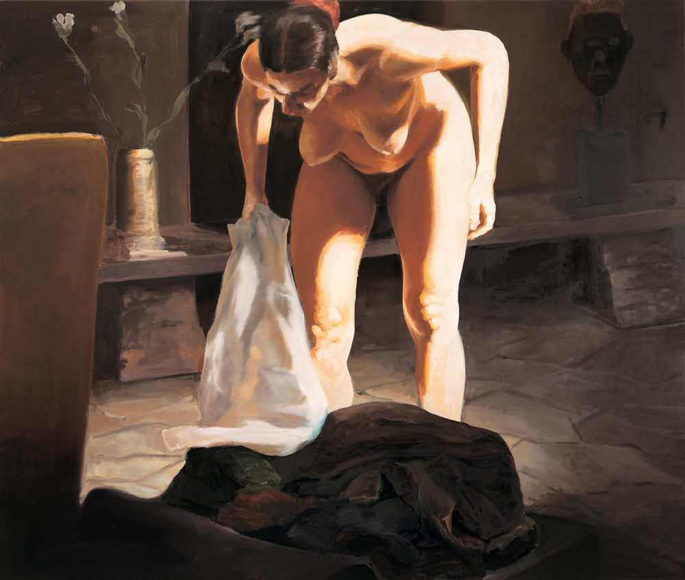 The Travel of Romance; Scene IV, 1994. Oil on linen. 55 x 65 in. (140 x 165 cm.)