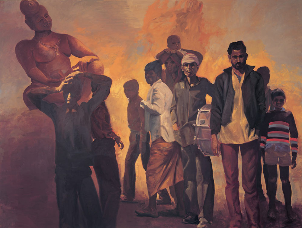 Kowdoolie, 1990. Oil on linen. 98 x 130 in. (249 x 330 cm.)