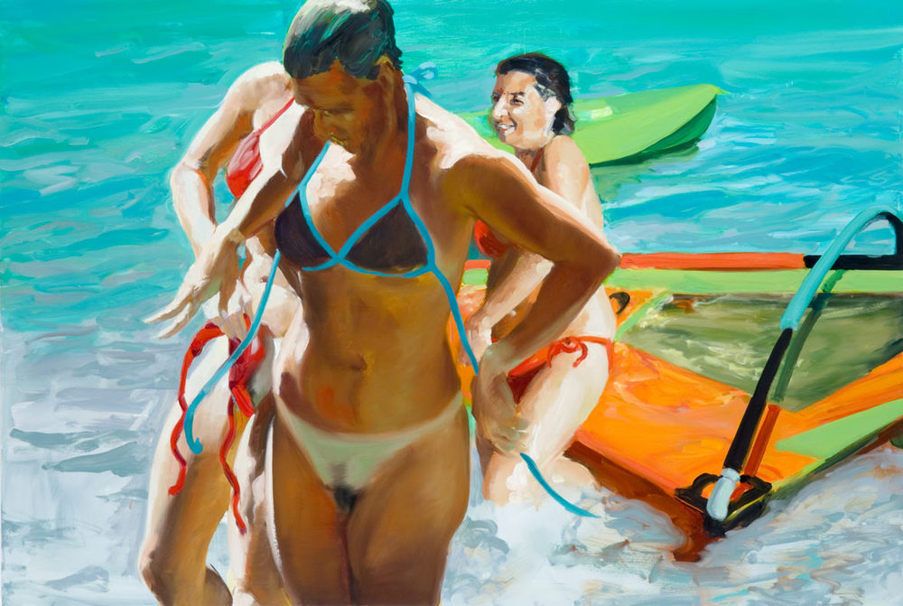 Beautiful Day, 2006. Oil on linen. 53 x 78 in. (135 x 198 cm.)