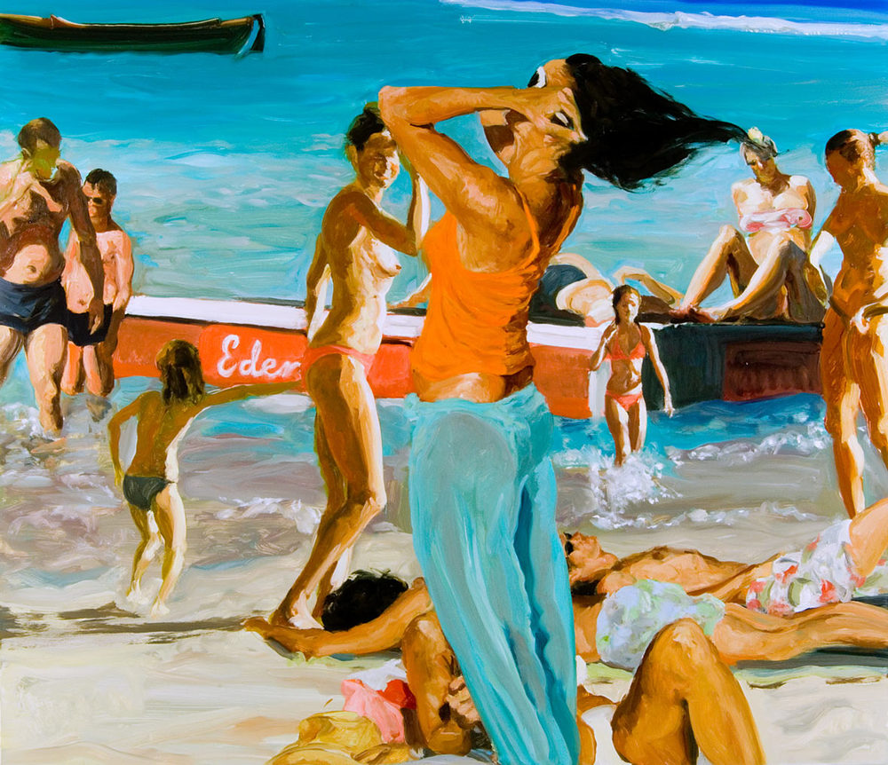 The Raft, 2007. Oil on linen. 52 x 60 in. (132 x 152 cm.)