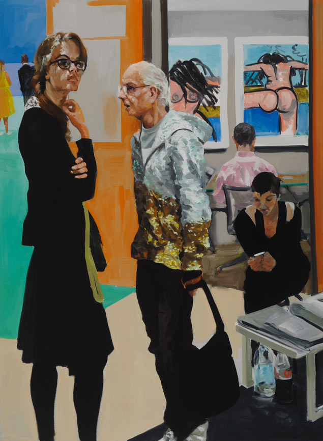 What Doesn't... Go Away... Miss?, 2015. Oil on Linen. 55 x 75 in. (140 x 191 cm.)