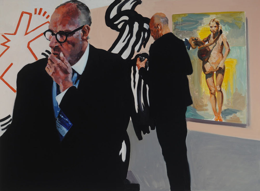 The Disconnect, 2015. Oil on Linen. 56 x 75 inches.