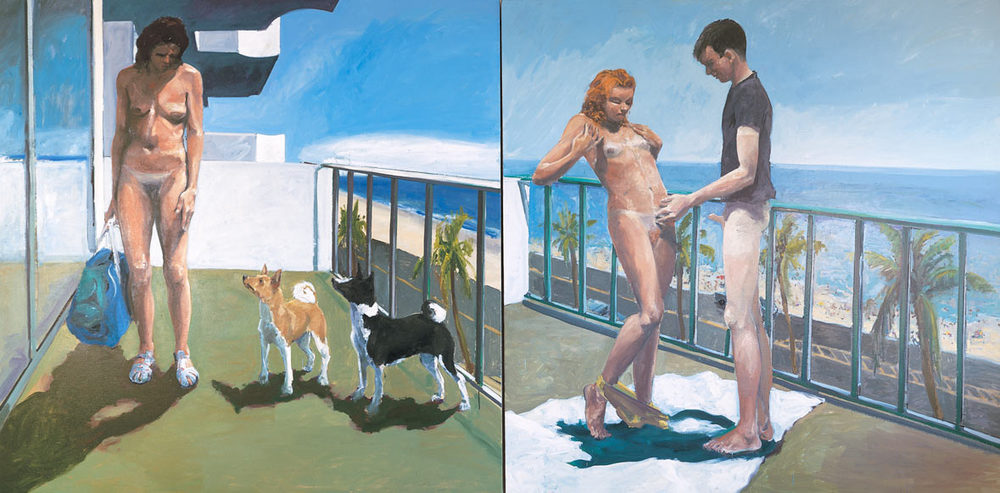 Dog Days, 1983. Oil on Canvas. 84 x 168 in. (213 x 427 cm.)