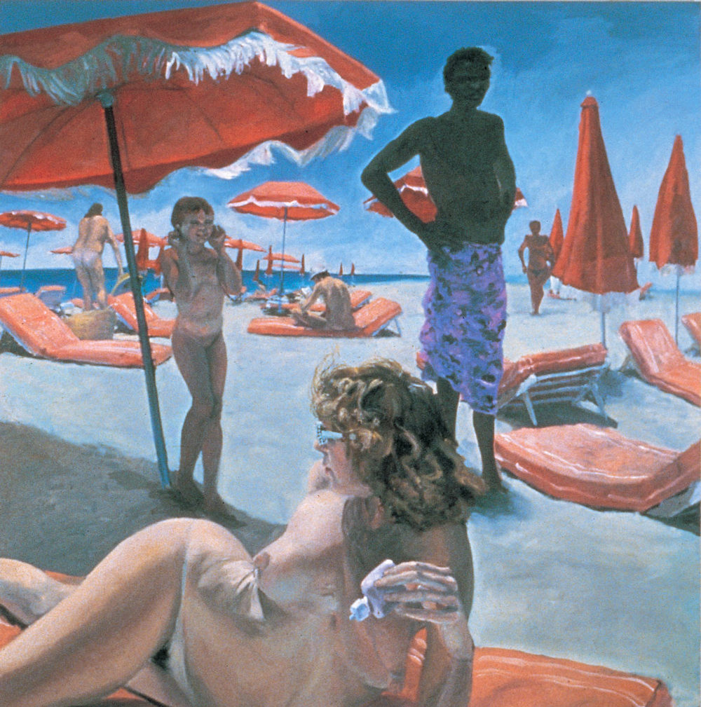 St. Tropez, 1982. Oil on Canvas. 84 x 84 in. (213 x 213 cm.)