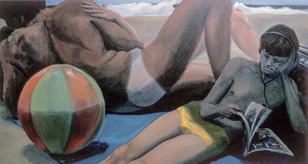 Beach Ball, Scenes from a Private Beach, 1981. Oil on Canvas. 36 x 55 in. (91 x 140 cm.)