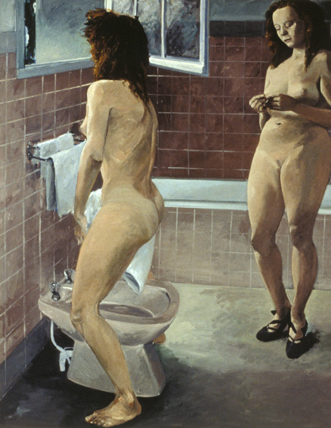 Sisters, 1984. Oil on Canvas. 108 x 84 in. (274 x 213 cm.)