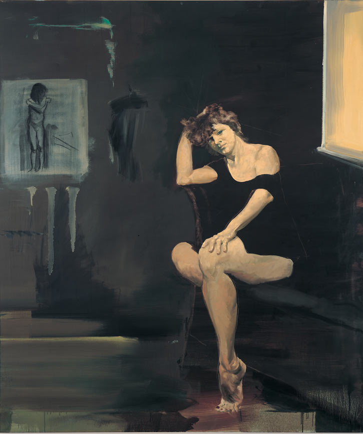 Portrait of an Artist as a Woman, 1989. Oil on linen. 68 x 58 in. (173 x 147 cm.)