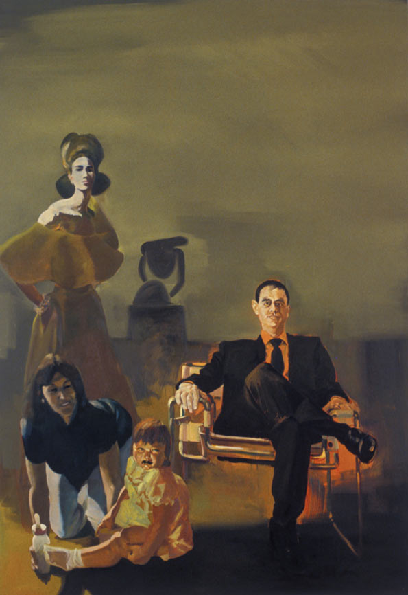 The Collector and her Family, 1991. Oil on linen. 108 x 75 in. (274 x 191 cm.)