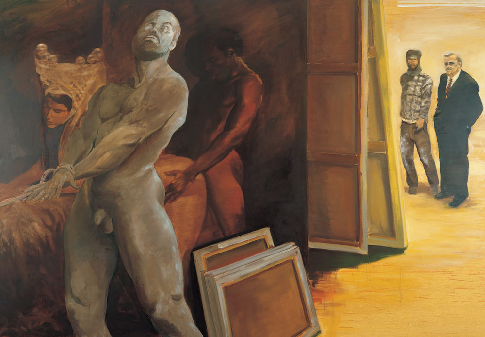 The Collector, 1991. Oil on linen. 75 x 108 in. (191 x 274 cm.)
