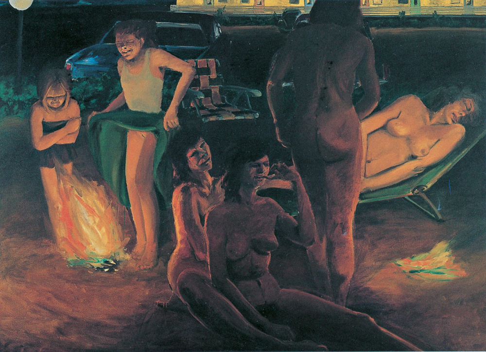 Scenes from a Private Beach 'The Women', 1982. Oil on Canvas. 66 x 96 in. (168 x 244 cm.)