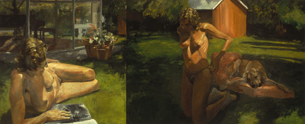 Mother and Daughter, 1984. Oil on Canvas 84 x 204 in. (213 x 518 cm.)