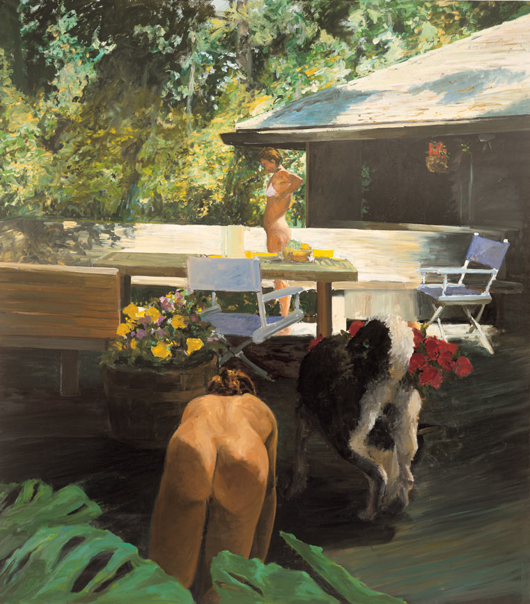 Imitating the Dog (Mother and Daughter II), 1984. Oil on Canvas. 96 x 84 in. (244 x 213 cm.)
