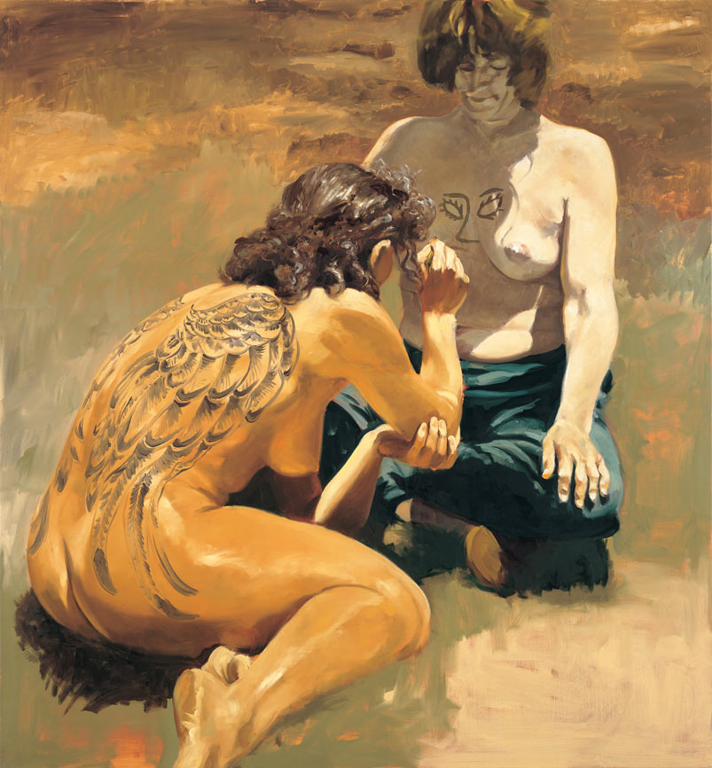 Slave, 1993. Oil on linen. 58 x 54 in. (147 x 137 cm.)