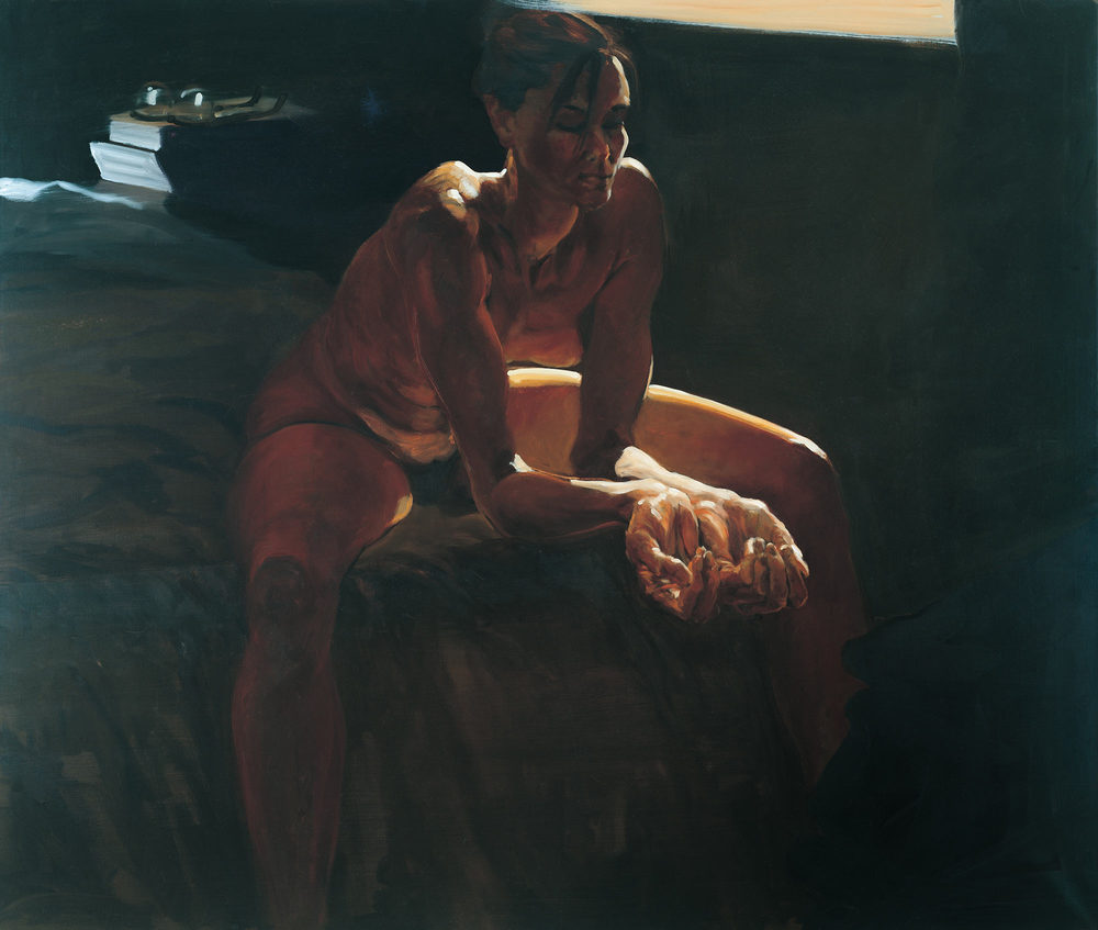 Reflection III; When, 1995. Oil on linen. 55 x 65 in. (140 x 165 cm.)