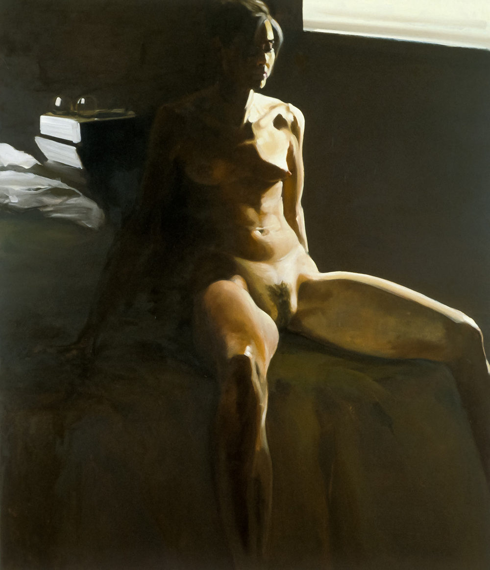 Reflection I; Why, 1995. Oil on linen. 68 x 58 in. (173 x 147 cm.)