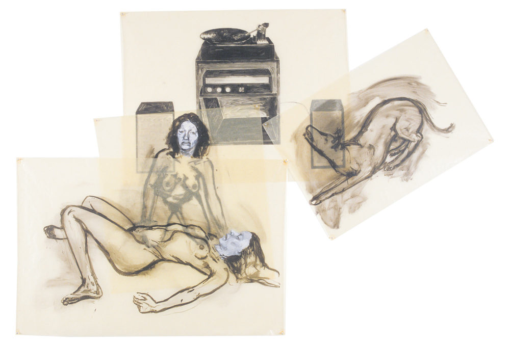 Dying Woman, 1980. Oil on Glassine.  78 x 116 in. (198 x 295 cm.)